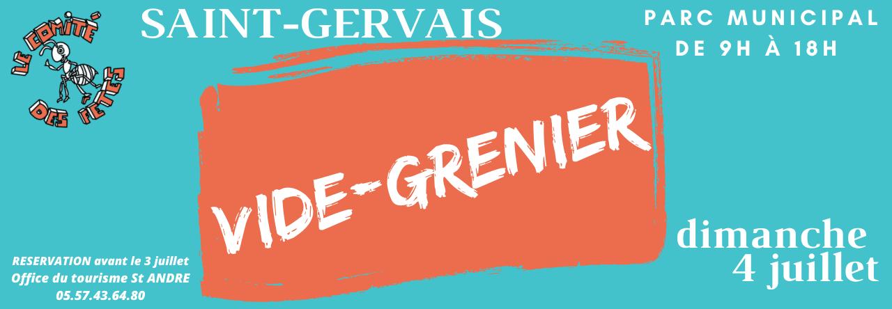 VIDE GRENIER - DIMANCHE 4 JUILLET